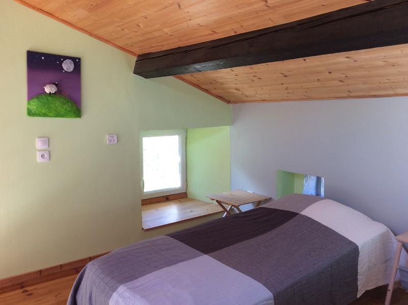 chambre verte maisonette